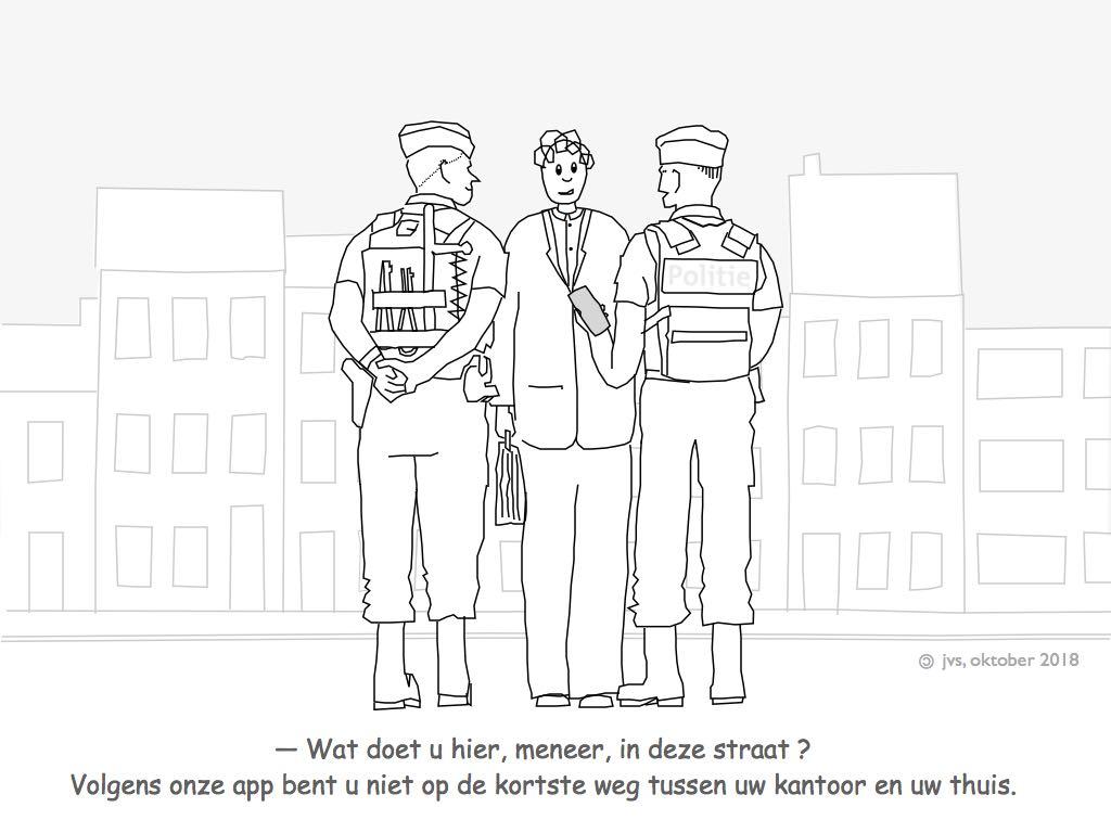 politie-controle op straat ifv adres
