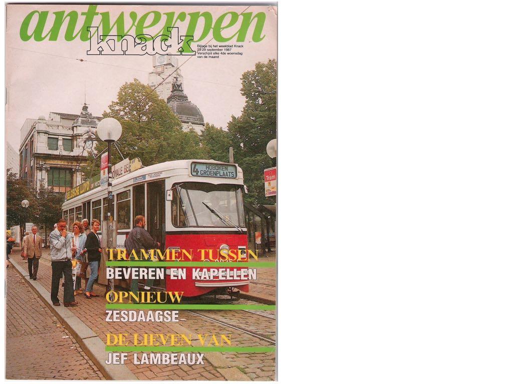 tram 4 op Groenplaats in 1987