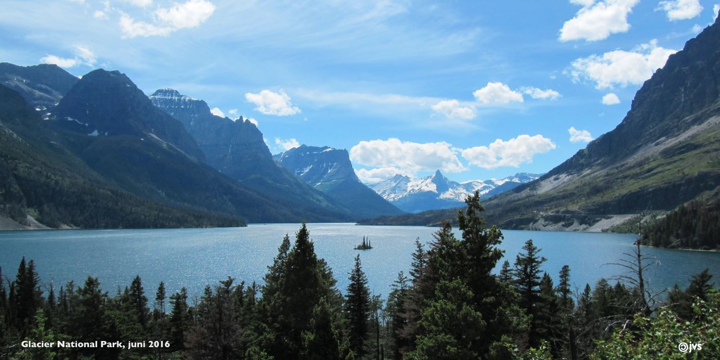 saint-mary lake in glacier national park, montana
