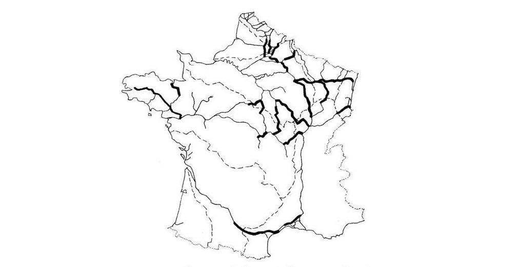 rivieres et canaux de France