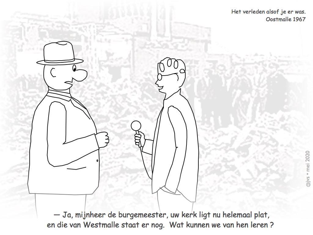 journalist ondervraagt burgemeester Oostmalle na windhoos